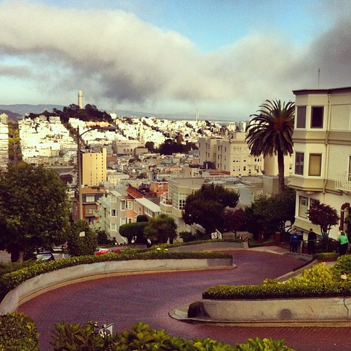 Crookedest street #lombard #sf #tourist | by SFMONA