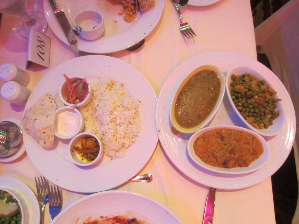 South Asian Indian Food Vegetarian Dinner Served On The Ca