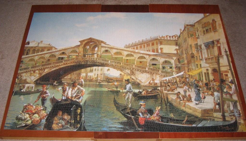 5000 piece puzzle busy day rialto bridge venice here is for Custom 5000 piece puzzle