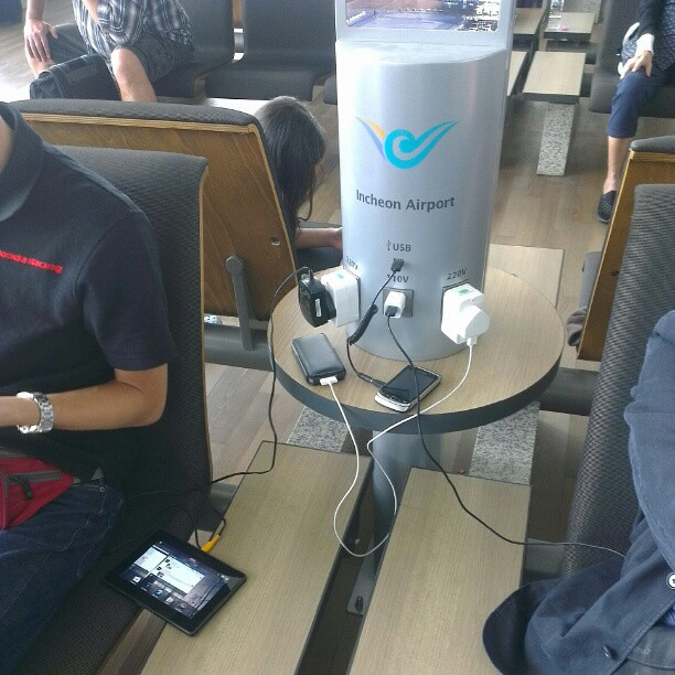 Incheon Airport Charging Station In Waiting Lounge Flickr