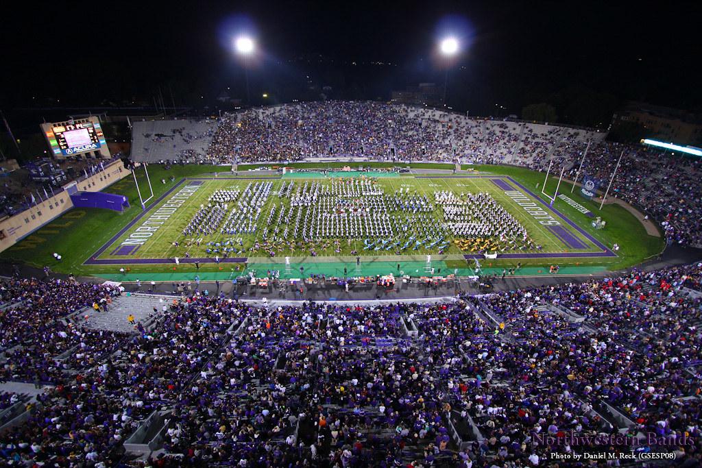 northwestern university high school band day over 1000