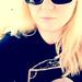 Blonde in an Edgar Allan Poe shirt