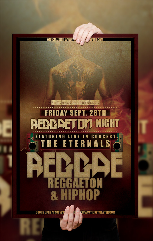 PSD Reggae Poster / Flyer Template | DOWNLOAD FULLY EDITABLE… | Flickr