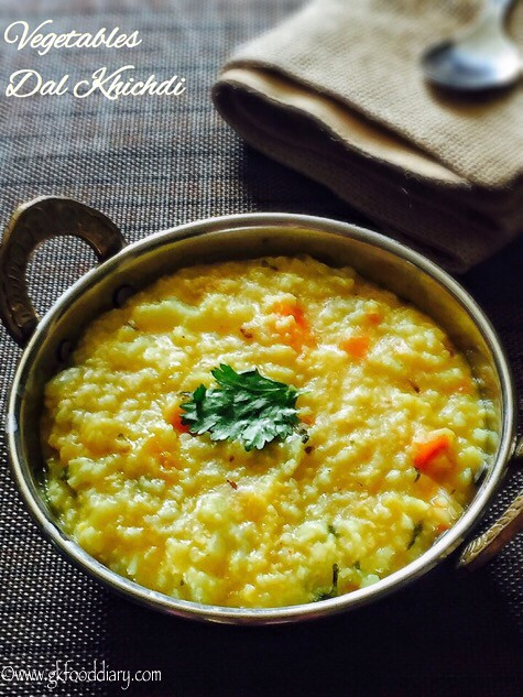 Vegetables Dal Khichdi Recipe for Babies, Toddlers and Kids4