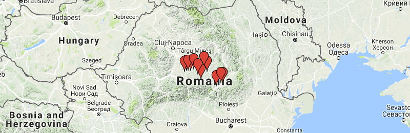 Mapa de iglesias fortificadas