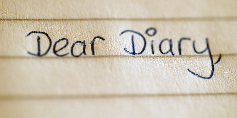Schrijf in een dagboek