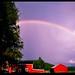 Swedish rainbow in Välsjo, Sweden