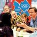 David Cameron talks to volunteers