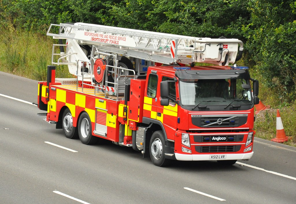 Fire Engine Volvo Fire Truck Of Bedfordshire Fire And