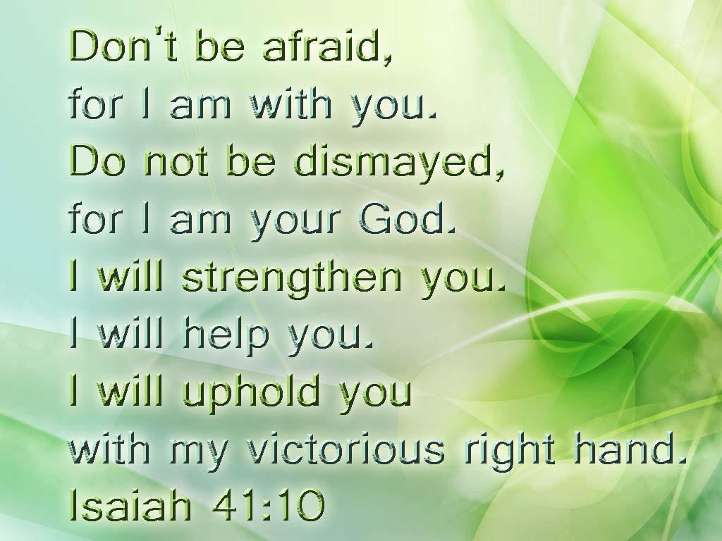 Isaiah 41 10 English