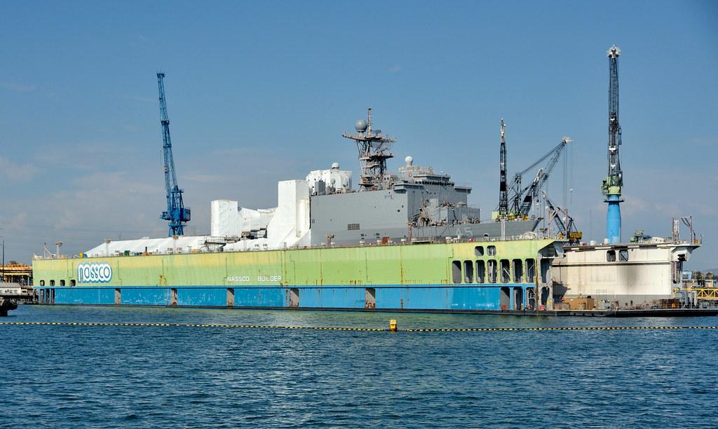 USS Comstock, LSD 45, in NASSCO floating drydock, San Diego, California, August 17, 2012