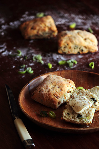 Caramelized Leek, Basil, & Black Pepper Biscuits | by pastryaffair