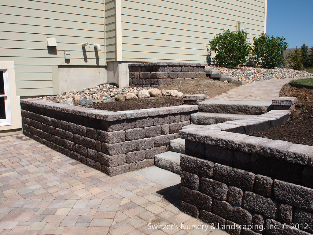 Landscaping Wall Steps : Paver patio under deck with retaining wall steps minne flickr