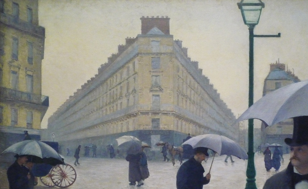 paris street, rainy day - gustave caillebotte essay The history of cityscape painting,  gustave caillebotte: paris street, rainy day, 1877  including the famous paris street, rainy day by gustave caillebotte.