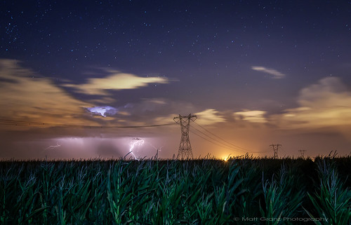Lightning, Stars and, Cornstalks | by Matt Granz Photography