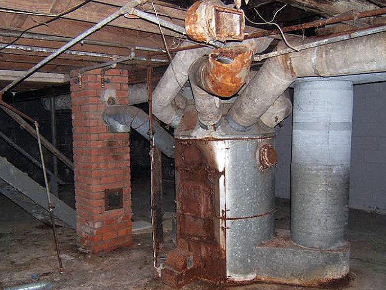 Octopus Furnace Amp Asbestos Ducts Another Example Of A