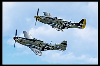 """Janie"" and ""Marinell"" .... Two P51D Mustangs in close formation. 