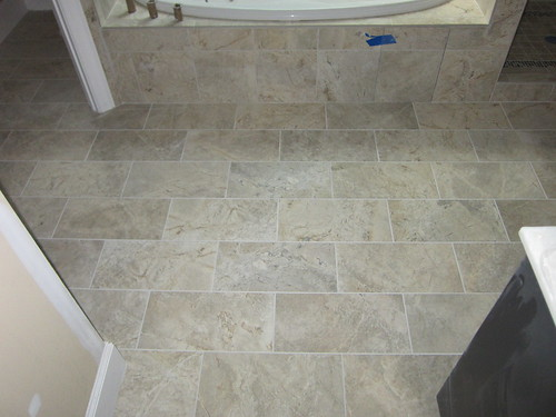 Master bath floor with flash