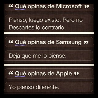 Siri comparte su opinión #siri #apple #iOS6 #iphone | by Carlos Caicedo