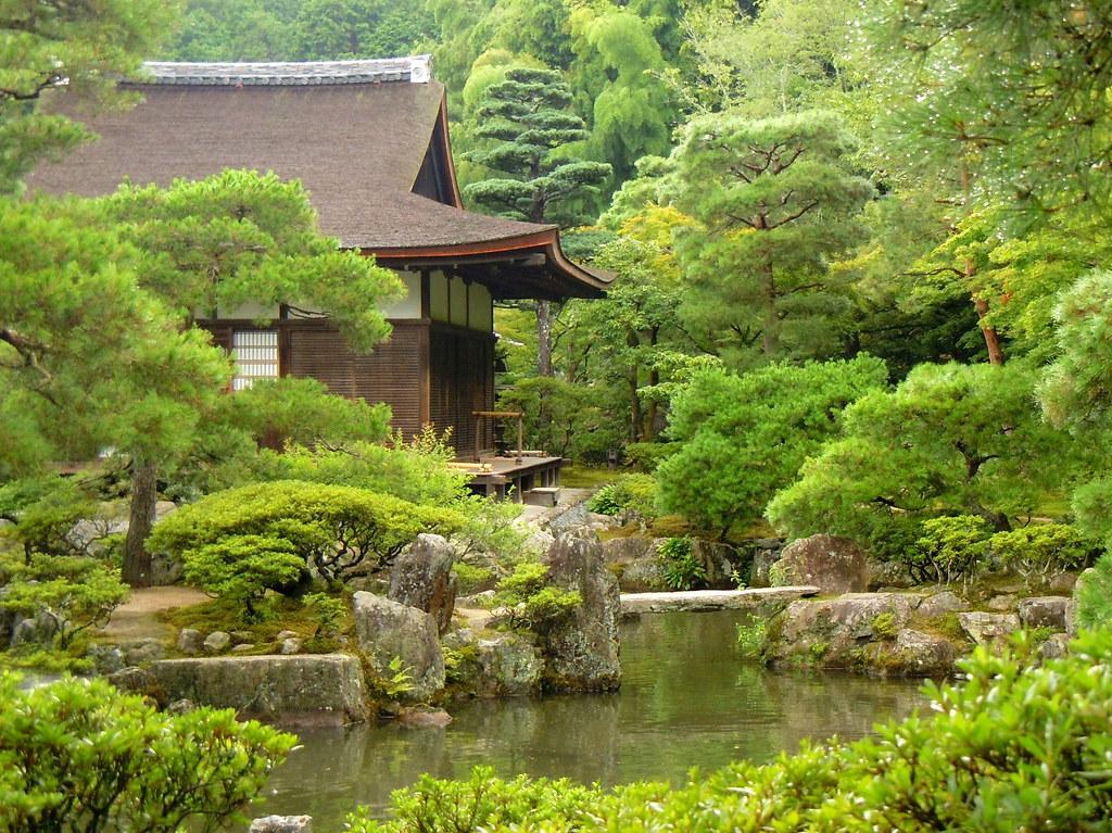 Man Caves Japanese Tea Garden : Tea house in man made forest ginkakuji japanese garden