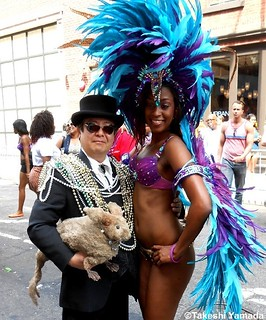 Seara (sea rabbit), Dr. Takeshi Yamada and festive parader at the New York City Gay Pride Parade in Manhattan, New York on June 24, 2012. 20120624 012. Rogue Gothic Steampunk Fashion vs Gay Fashion 2012. | by searapart13
