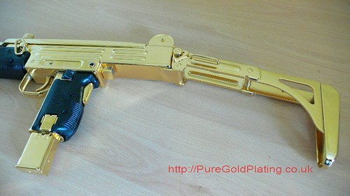 Uzi SMG Gold Plated b | by PureGoldPlating
