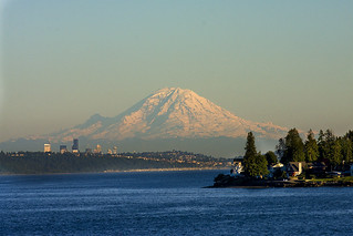 Mt. Rainier from a ferry boat | by hitomid