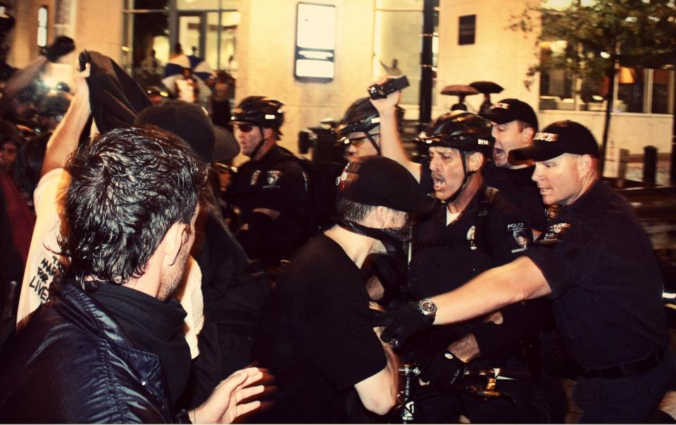 DNC Cops pushing protesters by Jenna Pope
