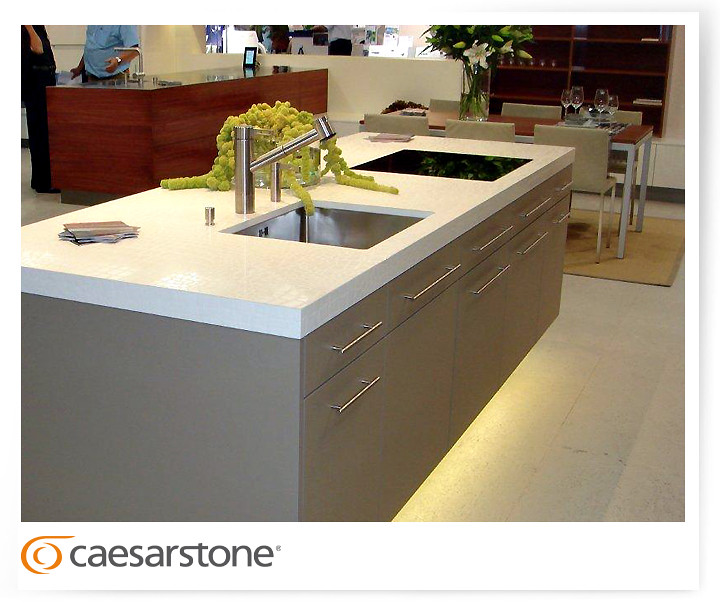 Caesarstone crocodile motivo in zurich kitchen design by for Kitchen design zurich