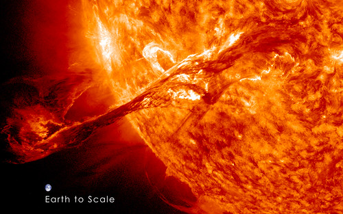 Magnificent CME Erupts on the Sun with Earth to Scale | by NASA Goddard Photo and Video