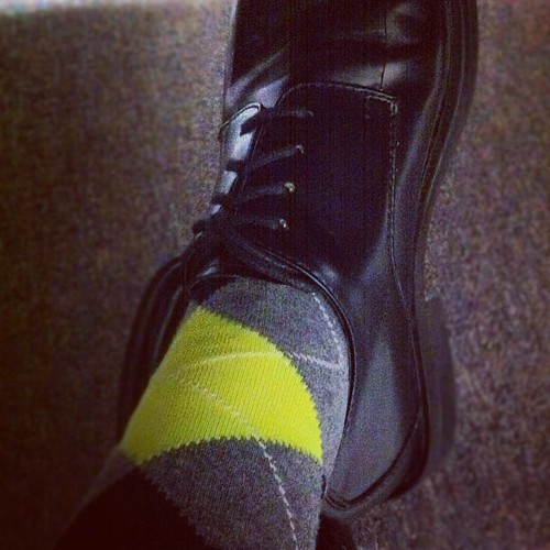#office #swag #shoe #sock #argyle #neon #bright #color #ye ...