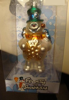 Brass Key Rankin Bass Frosty the Snowman with Blue Birds Blown Glass Ornament | by SunnyDays2011