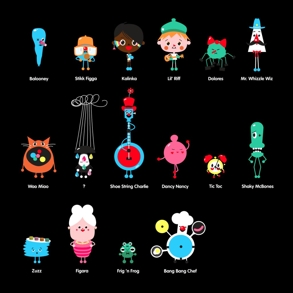 Toca Band Characters | From the iPhone & iPad app Toca ...