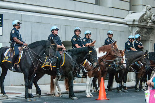 NYPD Horse Unit At The Ready | by juliacreinhart