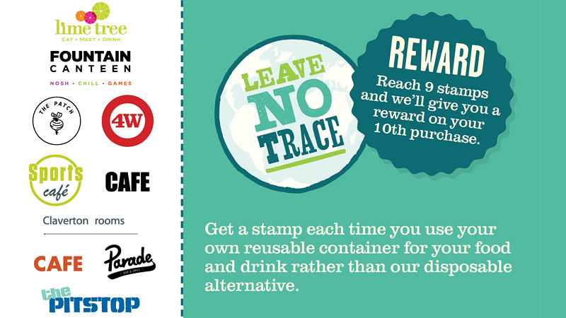 The front of the Leave No Trace loyalty card