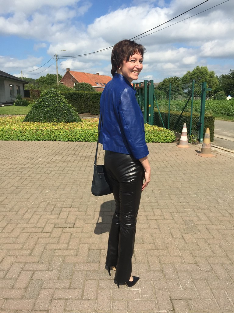 leather pants Mature