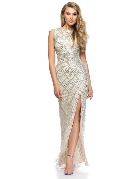 rochie stralucitoare Terani Couture