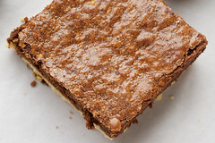 Nutella-Salted Shortbread Brownies