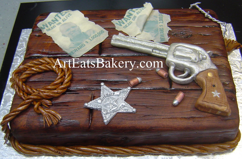 Unique Custom Edible Wood Men S Birthday Cake Design With