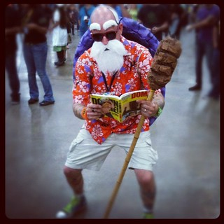 Master Roshi catching up on his reading. #DBZ | by FUNimation