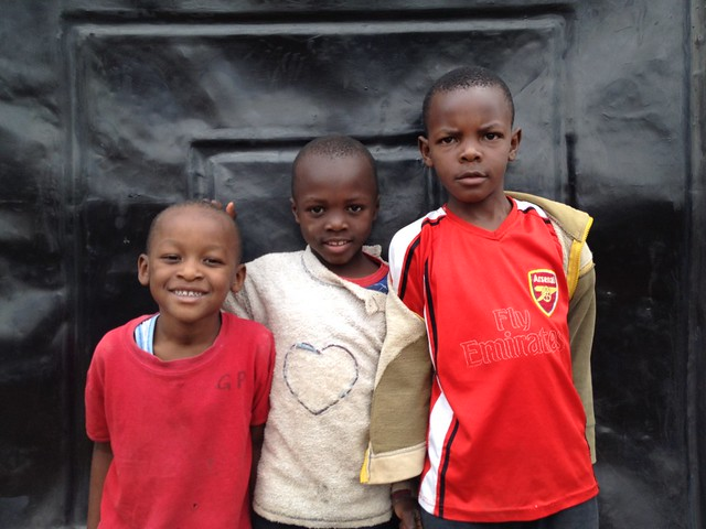 Smiling friends in Kenya, Africa