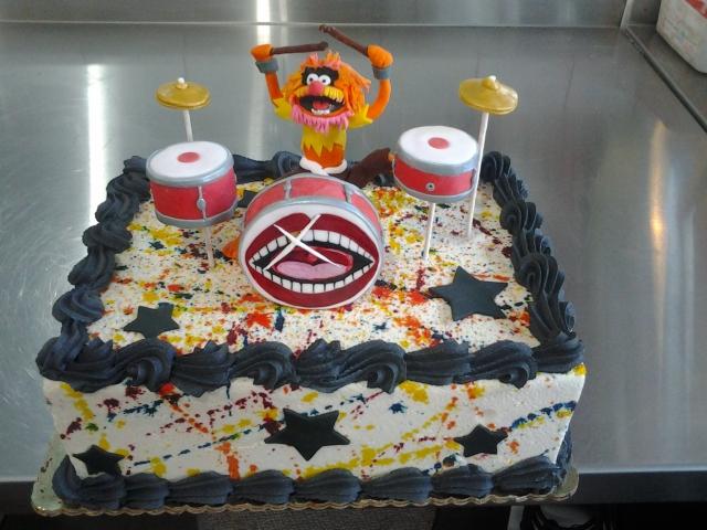 Drummer Cake Pan