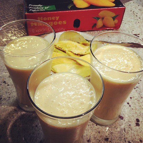 Mango Lassi made with (you guessed it!) real, Pakistani Aam! | by ijokhio