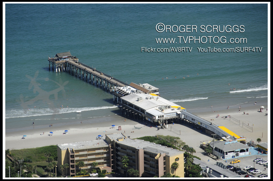 Cocoa Beach Pier Cocoa Beach Pier Aerial View