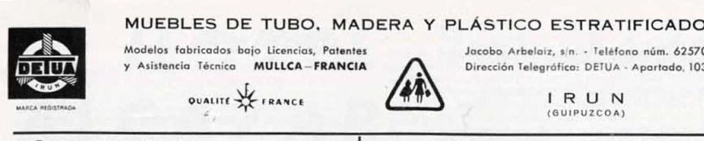 DETUA  DETUA MUEBLES DE TUBO, MADERA Y PLÁSTICO ESTRATIFICA