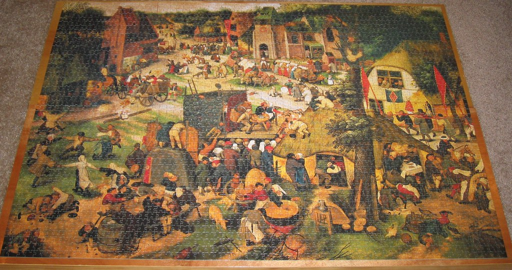 Fx schmid 3000 piece puzzle st georg 39 s fair here is for Custom 5000 piece puzzle