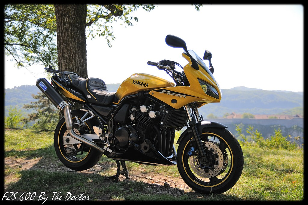 yamaha fzs 600 fazer 2002 black yellow jaune noir echappem flickr. Black Bedroom Furniture Sets. Home Design Ideas