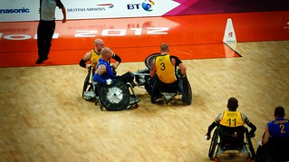 Sweden vs. Australia, London 2012 Paralympic Wheelchair Rugby | by firstnameunknown