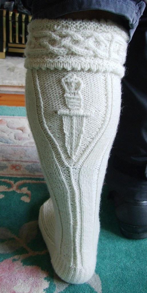 Free Knitting Pattern For Kilt Socks : #Aran #kilt #hose #socks #dagger #royalmarines my #copyrig ...