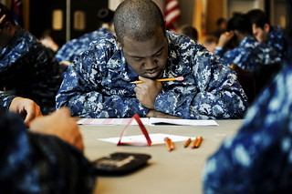 Sailors take an advancement exam. | by Official U.S. Navy Imagery